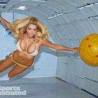 Kate Upton Sports Illustrated swimsuit 2014 zero gravity photo shoot gold bikini