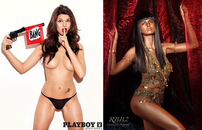 Playboy model Zoi Gorman bronzed beauty or blackface blunder