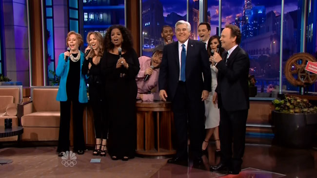So Long Farewell Jay Leno (Billy Crystal - Jack Black - Jim Parsons - Oprah - Carol Burnett - Sheryl Crow - Kim Kardashian - Chris Paul)