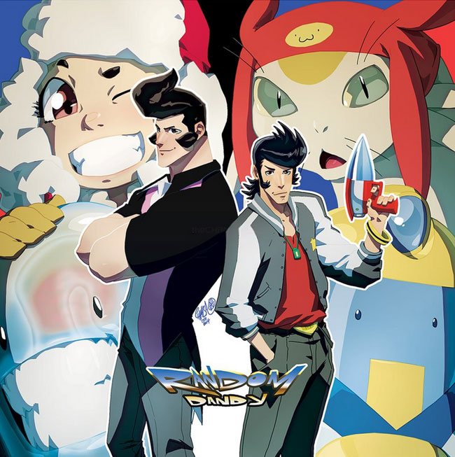 Space Dandy comic book crossover with RandomVeus