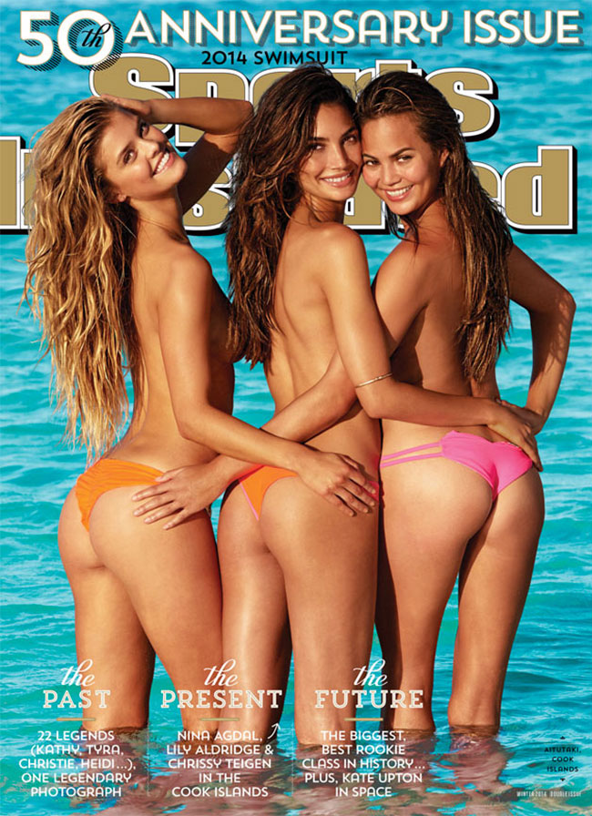 Sports Illustrated Swimsuit 2014 50th issue cover Nina Agdal Lily Aldridge Chrissy Teigen