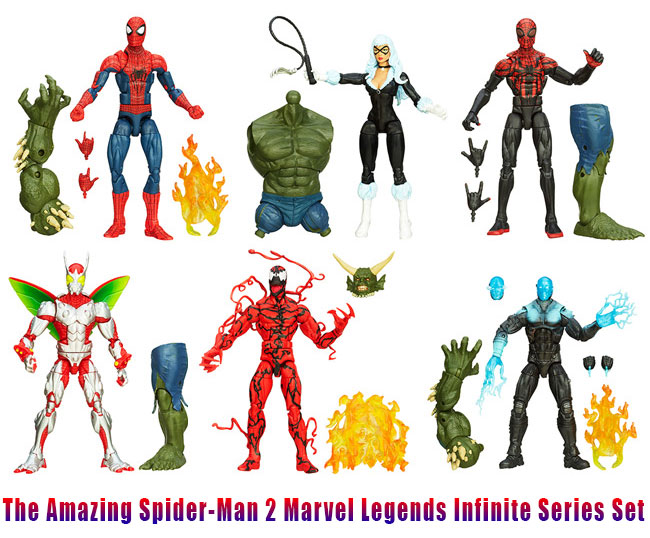 The Amazing Spider-Man 2 Marvel Legends Infinite Series Set (official movie toys)