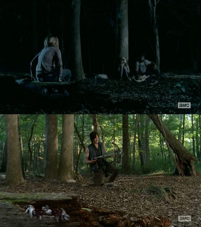 The Walking Dead Lizzie kills rabbits (Brighton Sharbino)