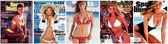 Sports Illustrated Swimsuit 50 Years of Beautiful - Top 5 Sports Illustrated Swimsuit covers (Kathy Ireland, Kate Upton, Tyra Banks, Christie Brinkley, Heidi Klum)