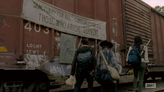 Walking Dead Claimed Terminus sign