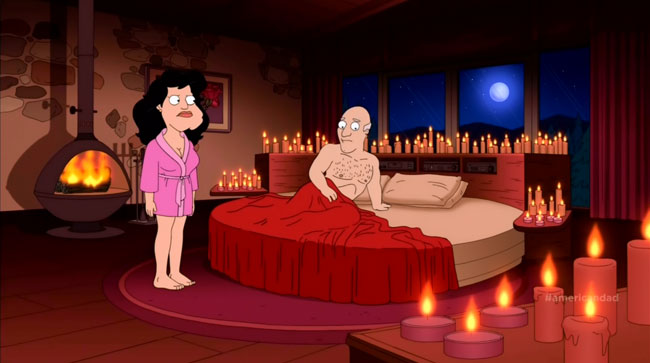 American Dad gets a sex change (Stan Goes On The Pill - female Stan and Francine)