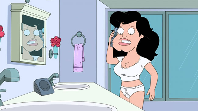 American Dad gets a sex change (Stan Goes On The Pill)