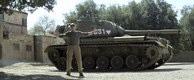 Arnold Schwarzenegger has a crush on his tank M47 Patton