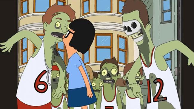 Bob's Burgers serves up zombie orgy story (zombie kiss)