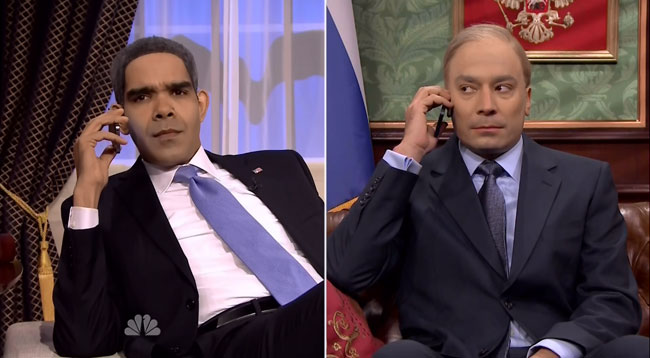 Jimmy Fallon imagines President Obama and Putin phone call
