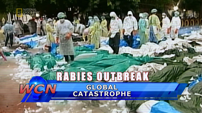 National Geographic Channel Zombie Earth caused by rabies virus