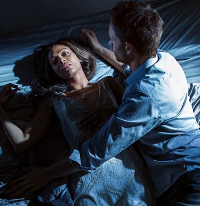 Rosemary's Baby miniseries teaser Rosemary (Zoe Saldana) and Guy (Patrick J. Adams)