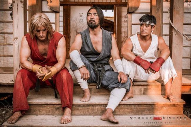 Street Fighter Assassin's Fist web series Ken (Christian Howard) Gouken (Akira Koieyama) Ryu (Mike Moh)