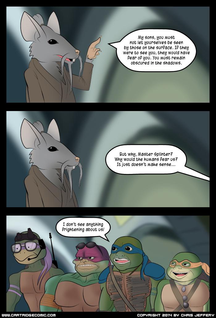 Teenage Mutant Ninja Turtles movie webcomic