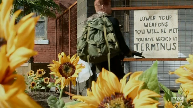 The Walking Dead Us (Terminus sign)