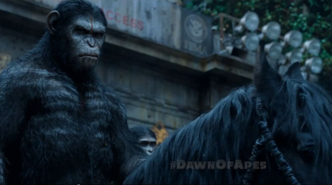 The Walking Dead airs Dawn of the Planet of the Apes TV spot