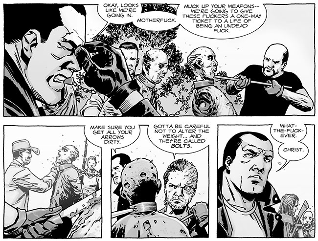 The Walking Dead comic kills Rick Grimes (Negan and Dwight - The Walking Dead #123)