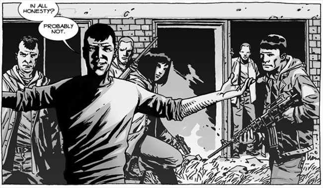 The Walking Dead comic the Hunters
