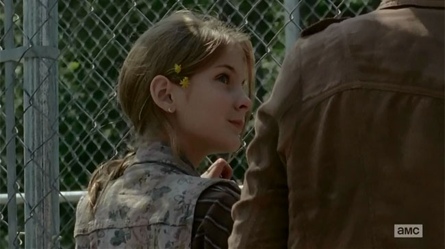 Walking Dead Infection Lizzie (Brighton Sharbino) flower in her hair