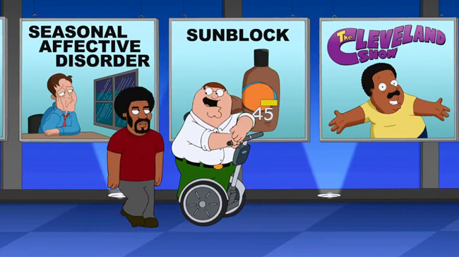 Family Guy racist musical number says Thank the Whites - Cleveland Show (Baby Got Black)