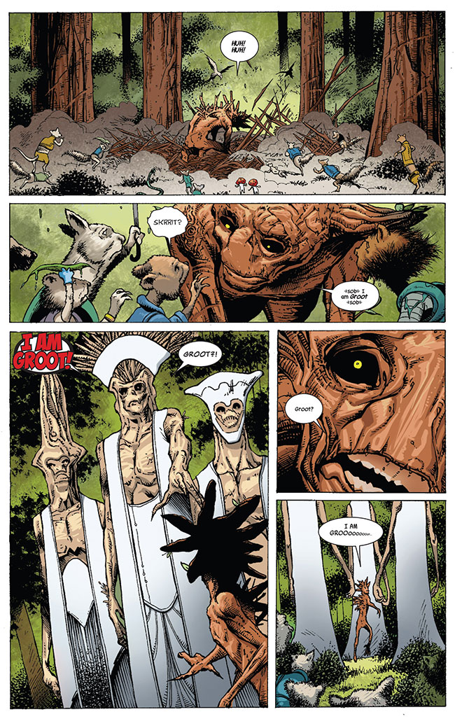 Guardians of the Galaxy 14 Groot origin banished by white Groot