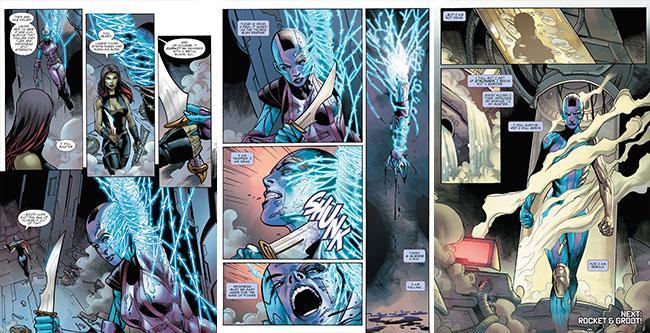 Guardians of the Galaxy Prelude introduces Nebula and Gamora (Karen Gillan)