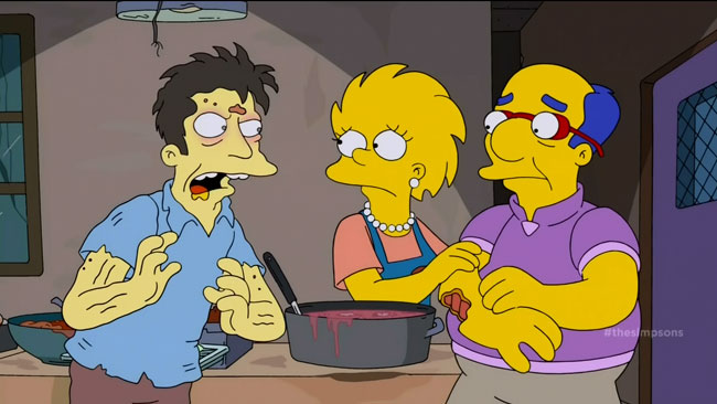 Lisa Simpson a necrophile (Days of Future Future - Zombie soup kitchen)