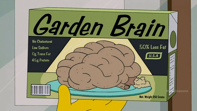 Lisa Simpson a necrophile (Days of Future Future - Zombie vegetarian brains)