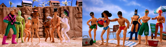 Robot Chicken DC Comics Special II Villains In Paradise (naked Legion of Domm private beach)