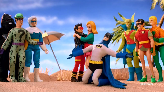 Robot Chicken DC Comics Special II Villains In Paradise (Superboy Lena and Batman song dance)