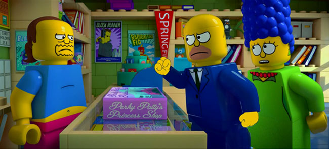 Simpsons LEGO special trailer - Brick Like Me (Homer and Marge visit Comic Book Guy to buy Perky Patty's Princess Shop)