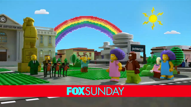 Simpsons LEGO special sex scene revealed and wedding hinted (Patty and Selma marry Krusty the Clown and his monkey Mr. Teeny)