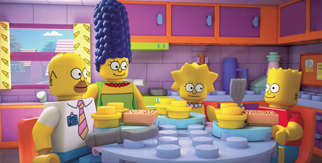 Simpsons Lego episode Brick Like Me (LEGO Simpsons dining room)