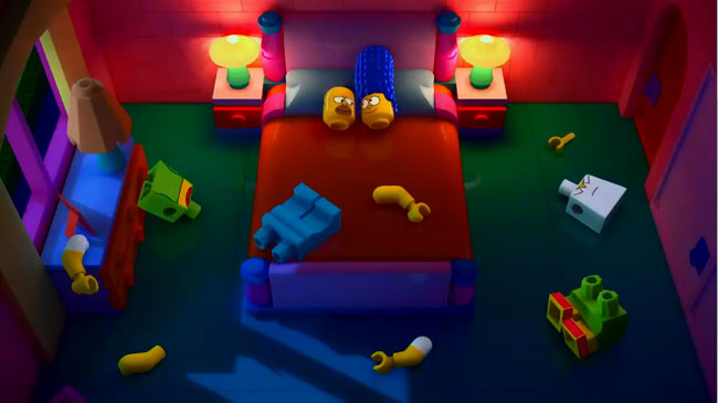Simpsons Lego special sex scene revealed (Homer and Marge)