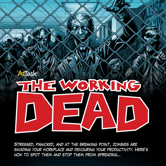 Zombie infographic warns businesses about The Working Dead (The Walking Dead)