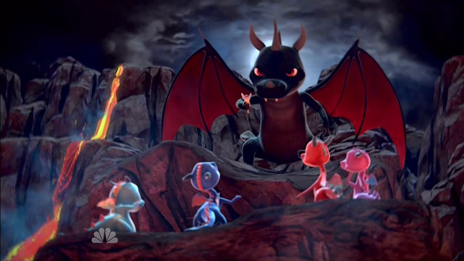 Dragon Babies first look on Saturday Night Live (Bibbo vs big dragon)