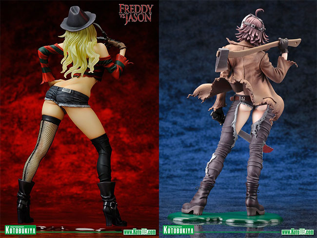 Freddy vs. Jason Bishoujo Statues Freddy Krueger and Jason Voorhees (back)
