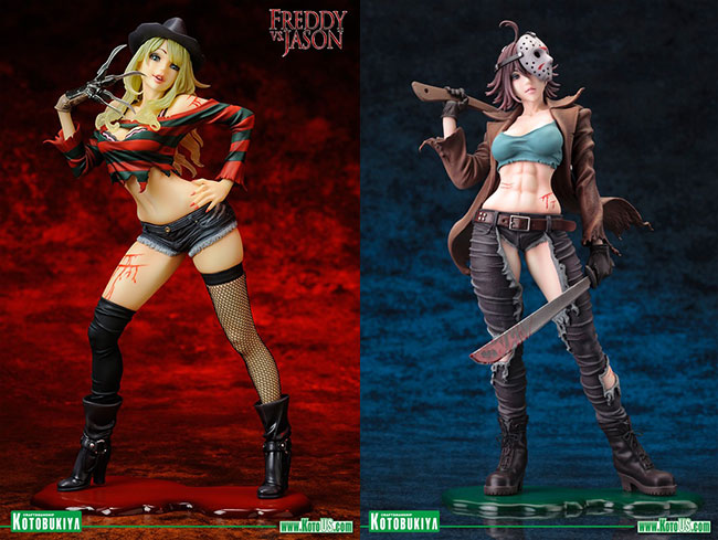 Freddy vs. Jason Bishoujo Statues Freddy Krueger and Jason Voorhees (front)