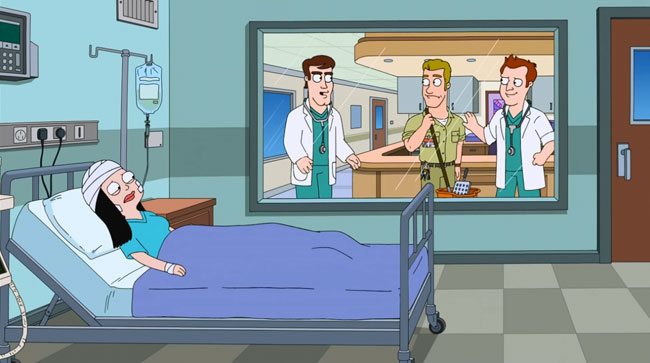 Jeff returns for American Dad season finale (The Longest Distance Relationship - Matt Davis Matt Damon )