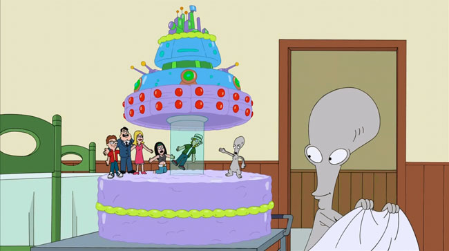 Jeff returns for American Dad season finale (The Longest Distance Relationship - cake)