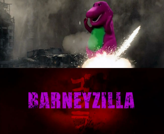 Jimmy Kimmel Godzilla parody Barneyzilla