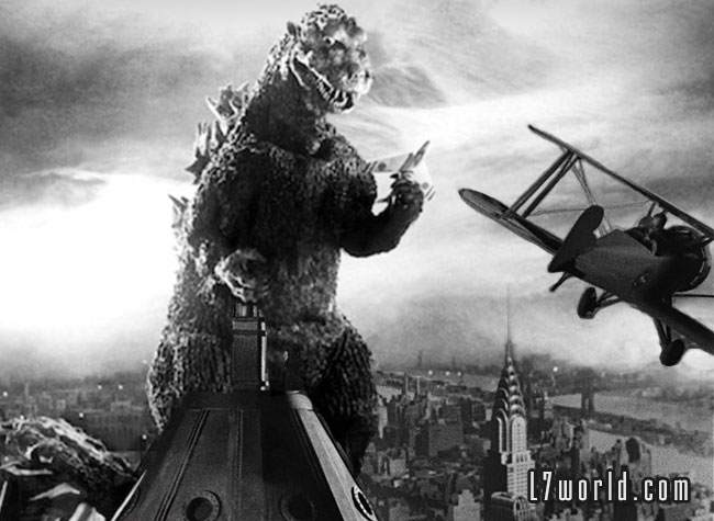 U.S. Air Force reveals Godzilla contingency plan (Godzilla King Kong Empire State building)