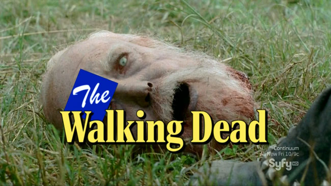 Wil Wheaton Project composes a Walking Dead theme song (zombie Hershel head decapitated)