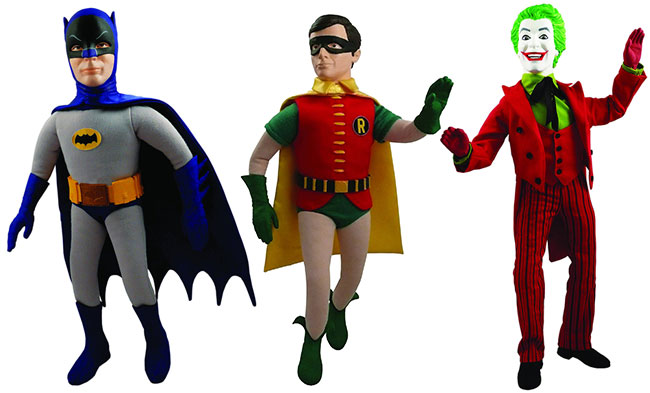 1966 Batman, Robin and Joker 17 inch talking figures