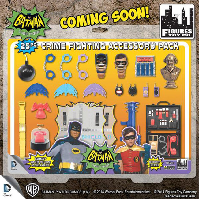 Batman Classic 1966 TV Series 25-Piece Action Figure Crime Fighting Accessory Pack FRONT