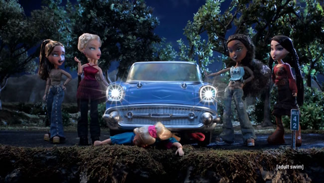 Bratz dolls kill Barbie on Robot Chicken