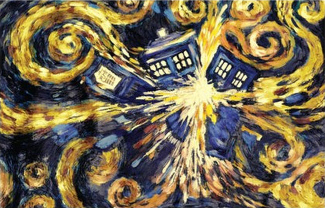 Doctor Who Exploding TARDIS poster by Vincent Van Gogh