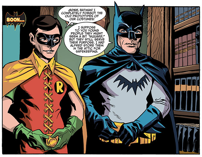 Holy wardrobe malfunction Batman (Batman '66 #36 - costumes)