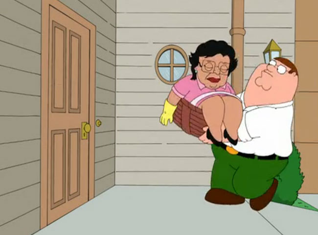 Housekeeper from Hell refuses to move out after being fired (Family Guy Consuela - Diane Stretton)
