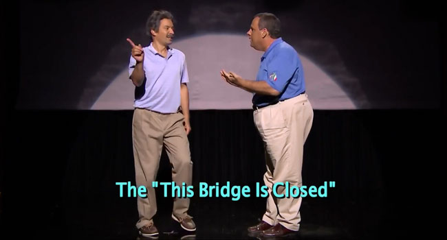 Relatively skinny Chris Christie dances on the Tonight Show